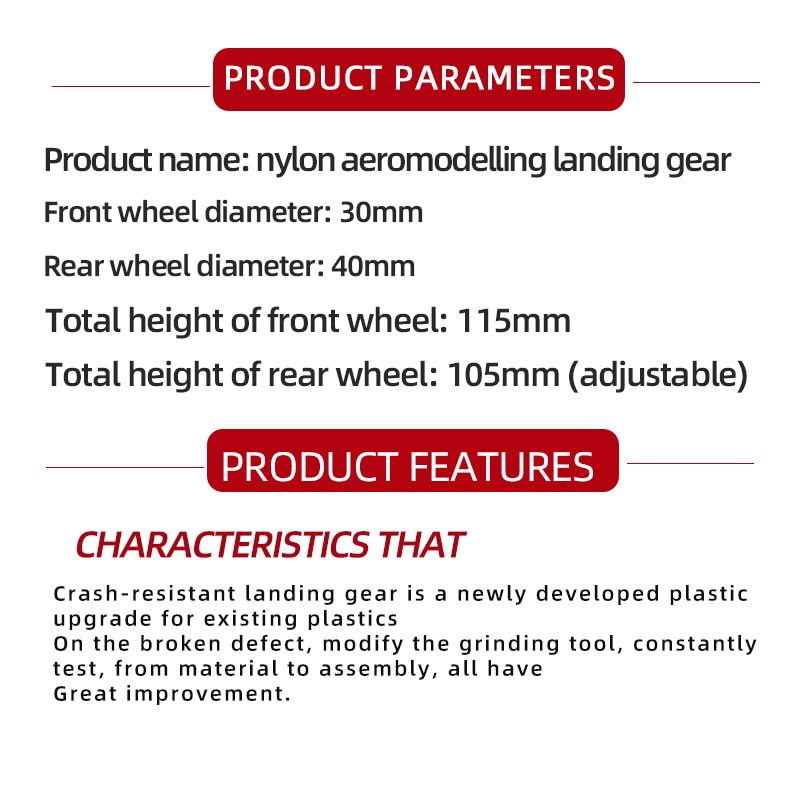 SU27 Assembly KT Board Landing Gear DIY Steering Wheel Landing Gears Undercarriage For FPV RC Fixed Wing Airplane Quadcopter enlarge