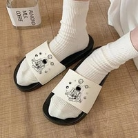 women shoes casual flip flops lady slide sandals indoor slipper lovely astronaut print slippers 2021 new summer slippers girls