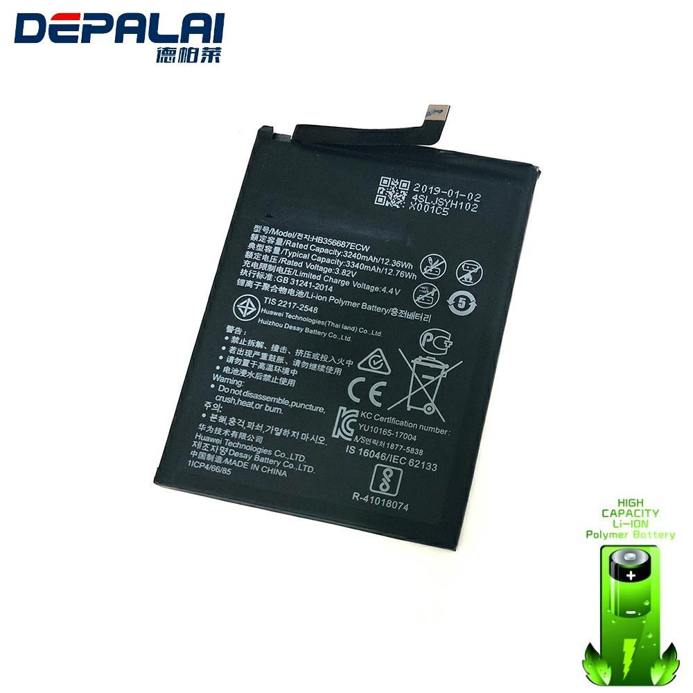Alta calidad batería de reemplazo 3340mAh HB356687ECW para huawei Nova 2 plus Nova 2i honor 9i huawei G10 Mate 10 lite