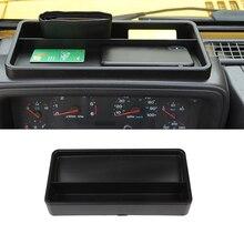 Boîte de rangement pour Jeep Wrangler TJ 1997-2006   Avant, plateau de tableau de bord, conteneur organisateur, boîte de rangement, accessoires dintérieur de voiture, noir