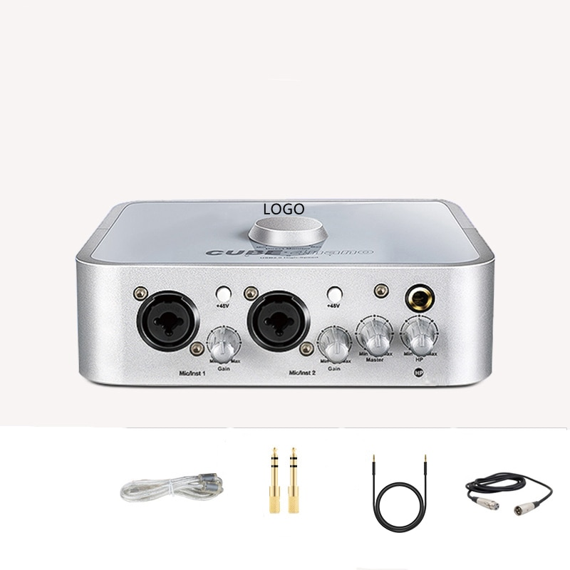 4 نانو مرساة الخارجية الراقية USB كارت الصوت الغناء تسجيل مخصصة الهاتف المحمول الكمبيوتر العالمي لايف المعدات