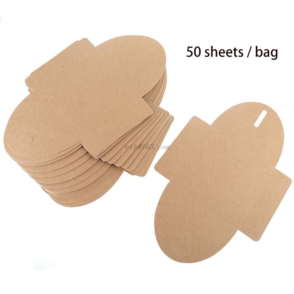 50pcs 13x13cm Heart Kraft Paper Case Bag,Sleeves Discs DVD Packaging Bag Box Kraft for cd Case Cover Envelope for Part