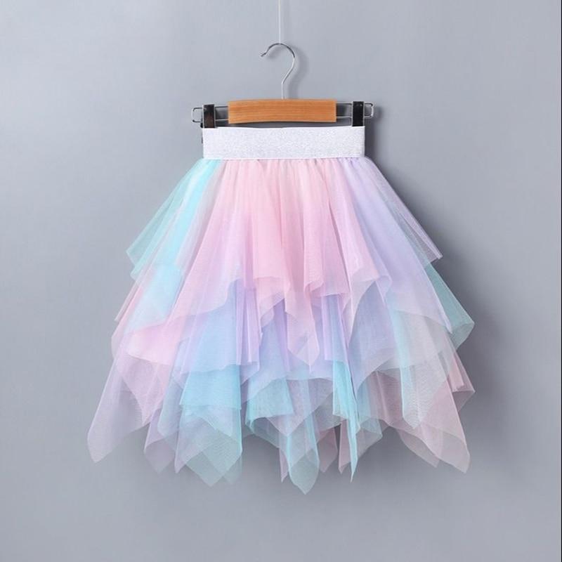 Детские юбки для девочек, одежда, летняя детская юбка пачка, детское бальное платье из газовой ткани, одежда для маленьких принцесс Юбки    АлиЭкспресс
