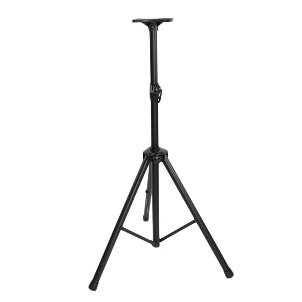 Trípode ajustable para DJ PA, soporte para altavoz, minisoporte de nailon para proyector, soporte para reproductor de DVD, soporte para suelo, negro