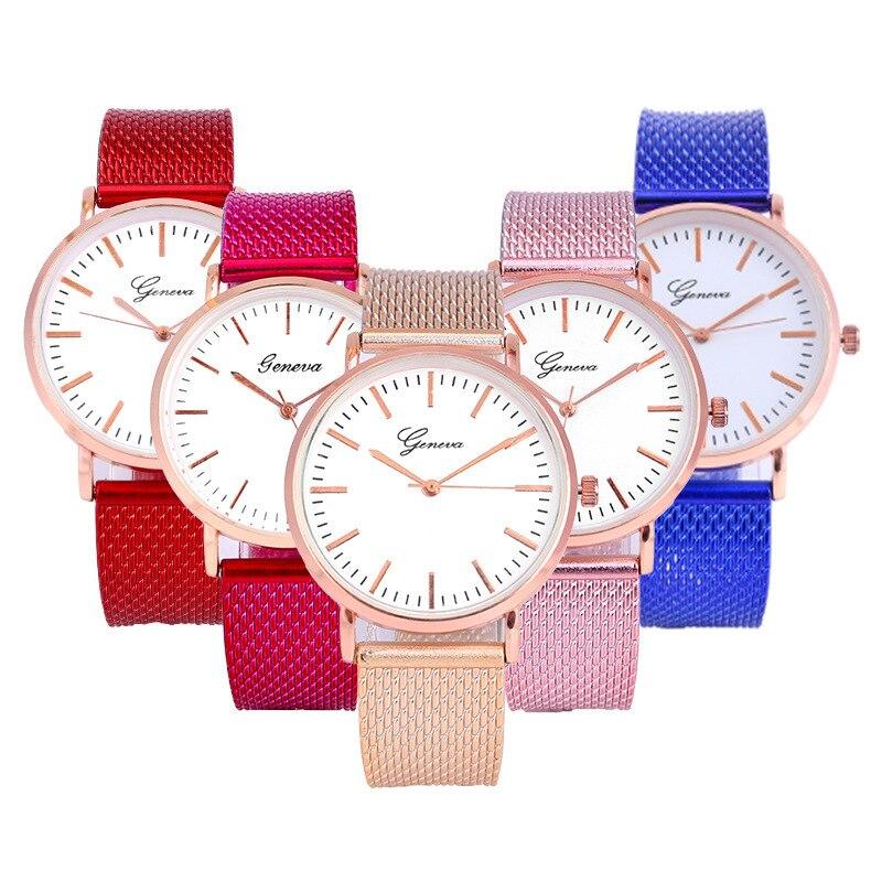 Fashion 2019 Unisex Casual Geneva Ultra-thin dial Quartz Analog Wrist Watch Ladies Watch Clock Woman Watches relogio feminino