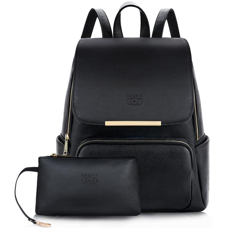 Mochila para mujer, mochila escolar con tapa, bolso de viaje, bolso de piel sintética de alta calidad, bolso de hombro para ordenador