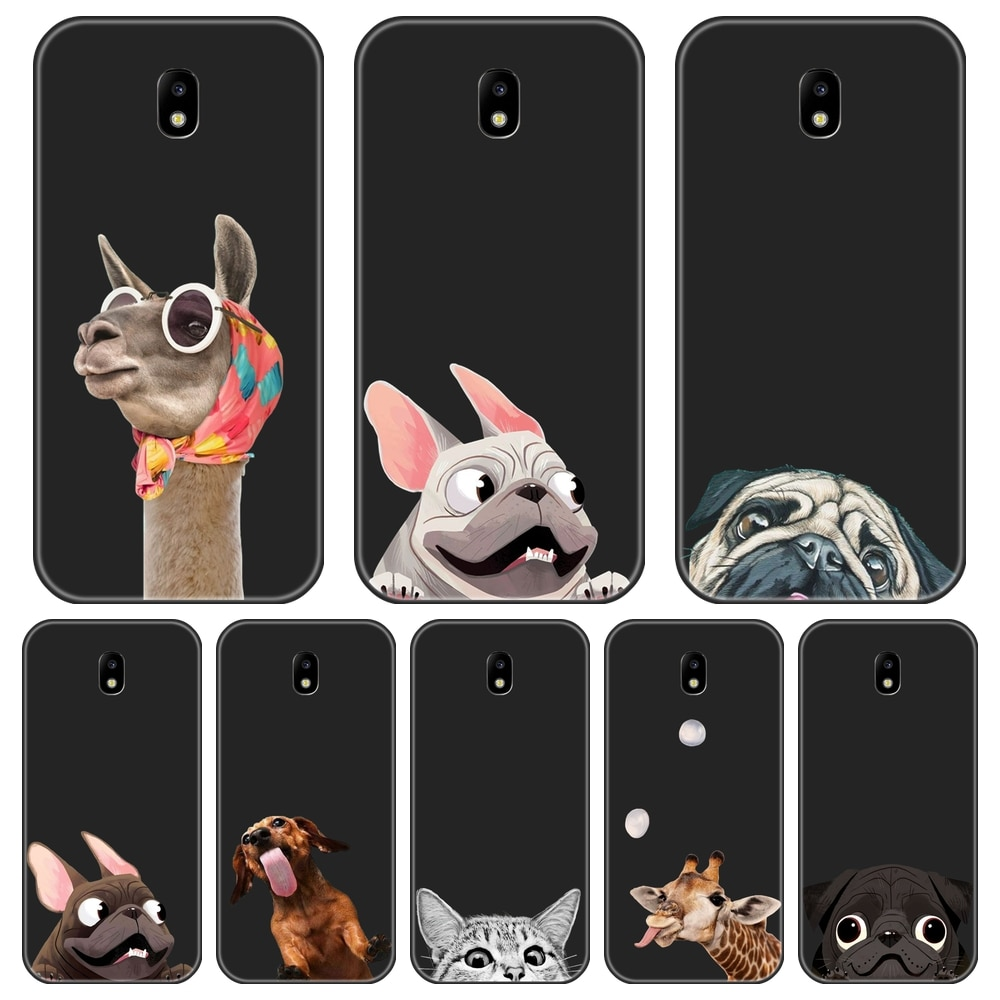 Pug Dog Back Cover For Samsung Galaxy J4 J6 J8 Plus 2018 J2 J5 J7 Prime J3 J5 J7 2015 2016 2017 Edge Soft Phone Case Silicone
