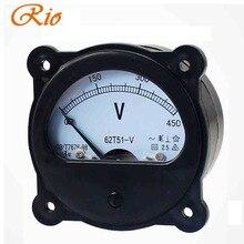 450V Pointer AC Voltage Meter Generator Using Analog Meter Mechanical Round Circular Dial Voltage Meters Electrical Instrument