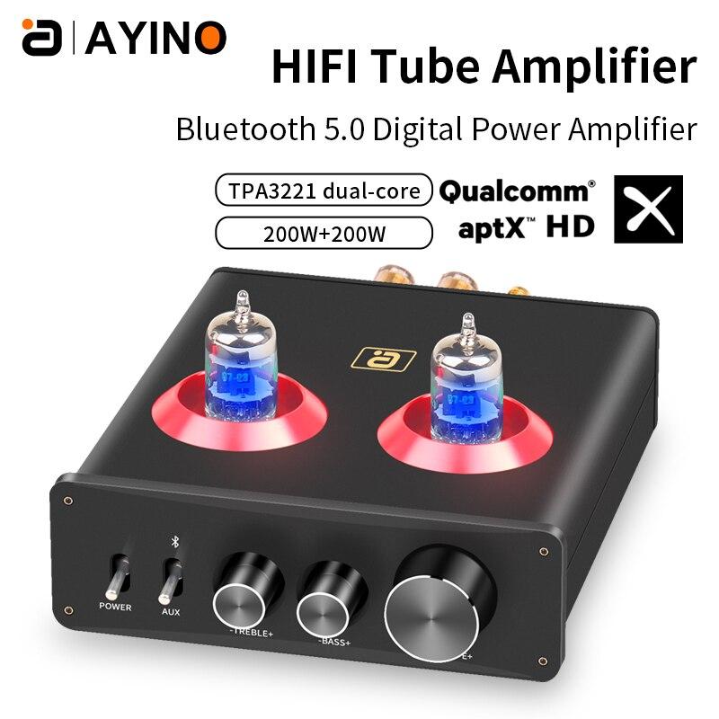 مضخم صوت هاي فاي مُضخّم صوت مسبق بلوتوث 5.0 APTX Preamp مع ثلاثة أضعاف ضبط نغمة الباس لمسرح الصوت المنزلي HF230