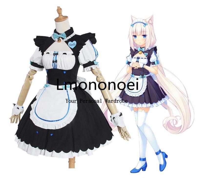 Lmononoei Nekopara Vanilla maid Cosplay Costume