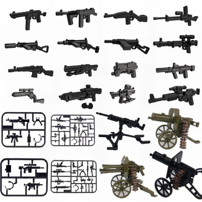 軍事ロック腕 WW2 重機関銃 moc ブロックのおもちゃ子供 swat 陸軍の勝者勝者武器ロック militarys ブロック