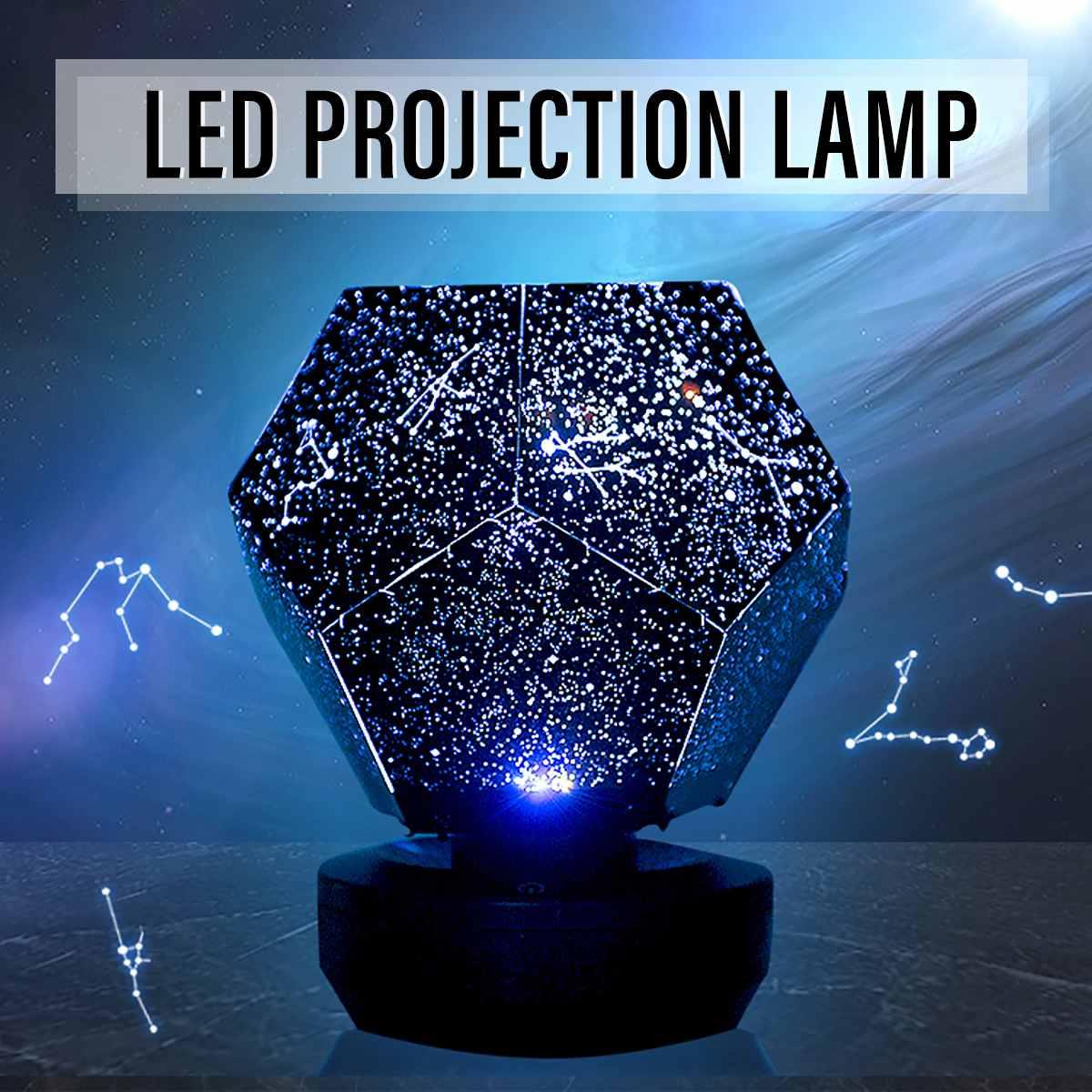 LED Starry Sky Projector Night Lights 3D Projection Night Lamp USB Charging Home planetarium Kids Bedroom Decor Room Lighting