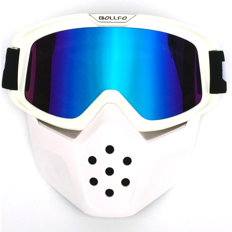 Retro Windproof Open Face Helmets Goggles Mask Vintage Motorcycle Helmet Goggles Motocross Helmet Glasses  for Shark Helmets