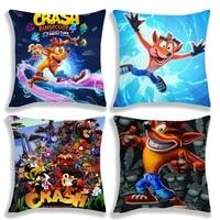 crash bandicoot on the run pillow case crash cushion cover 4545cm polyester pillow cover home decorative no pillow insert