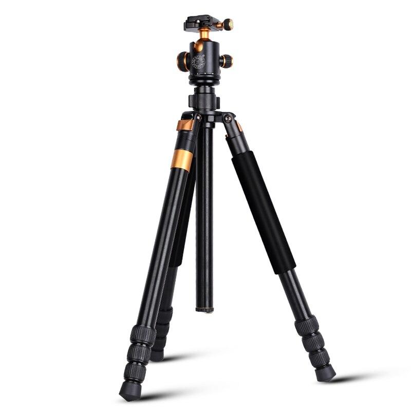 Q968 ألف الألومنيوم السفر كاميرا رقمية حامل ثلاثي القوائم 1670 مللي متر فيديو و DSLR التصوير ترايبود monopod 15 كجم تحمل ملحقات الكاميرا