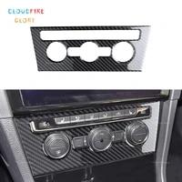 cloudfireglory interior central ac switch cover trim carbon fiber sticker for vw golf 7 gti mk7 2014 2015 2016 2017 2018 2019