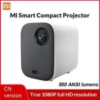 Xiaomi     projecteur Compact Mi 1080P DLP pour Home cinema  500 lumens ANSI  compatible video 4K  Android TV 9 0