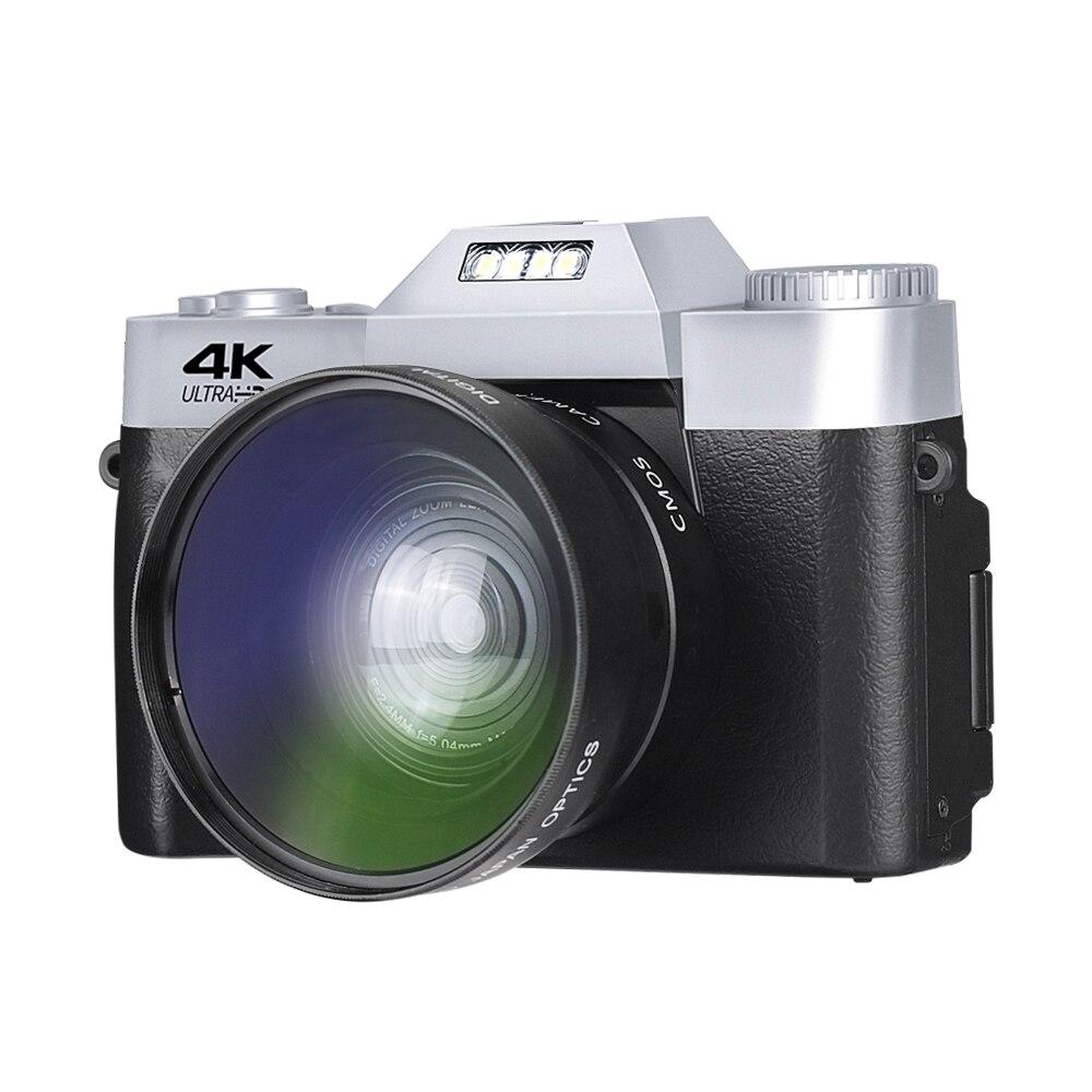 4K HD Digital Camera Vlogging Camera with 3.0 inch 180° Flip Screen WiFi Digital Camcorder for YouT