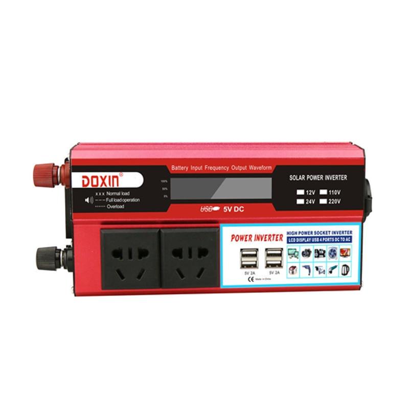 1000W Auto Power Inverter Dc 12V Naar Ac 220V Draagbare Auto Power Charger Converter Adapter Socket Gemodificeerde sinus