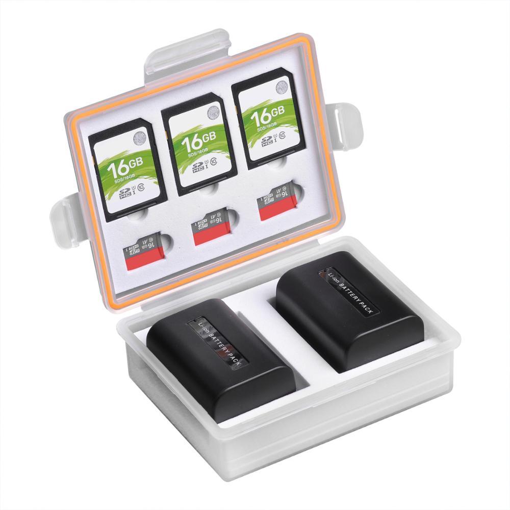 AliExpress - Camera Battery Box Storage SD TF Memory Card Case for Canon LP-E17 LP-E12 Sony NP-FW50 NP-FV50 Fuij NP-W126 Batteries Container
