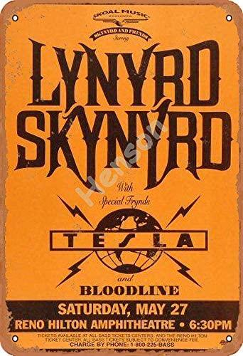 Lynyrd Skynyrd Tesla-cartel de Metal Vintage, decoración para el hogar, interior, exterior,...
