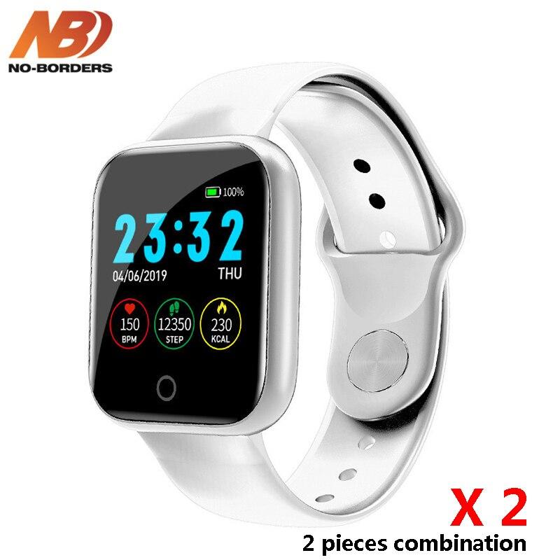 Reloj inteligente podómetro de 2 piezas con varias esferas, reloj inteligente de ritmo cardíaco para Android Apple Watch PK B57 P68 iwo 8 11 12
