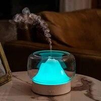 Diffuseur dhuiles essentielles et daromatherapie avec chaud et 400  sans BPA  vue sur la montagne  pour la maison  lampe LED coloree ML