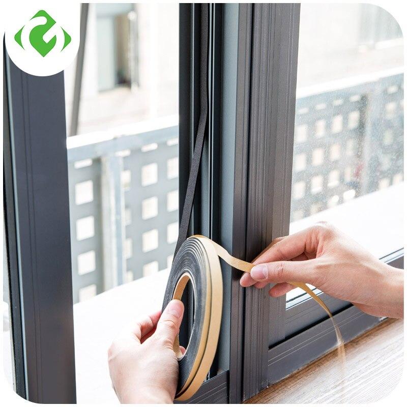 Мягкая 2 м самоклеящаяся уплотнительная лента для окон двери автомобиля шумоизоляция резиновая Пылезащитная уплотнительная лента оконные аксессуары GUANYAO