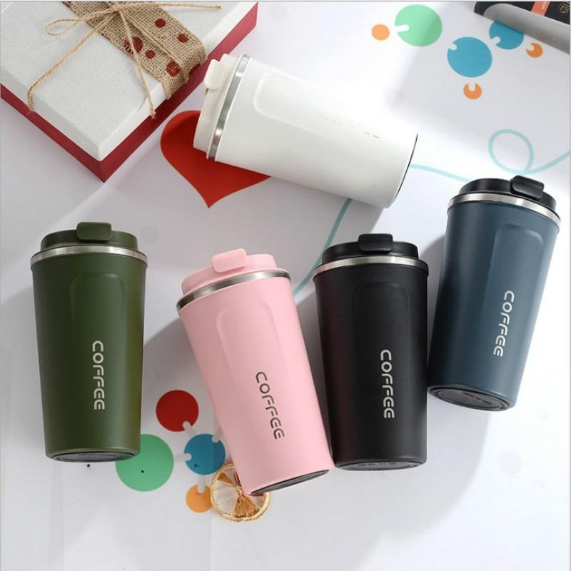 Taza de café de acero inoxidable al vacío creativo coreano tazas de viaje al aire libre termo botella amigos regalo taza aislada hidro matraz