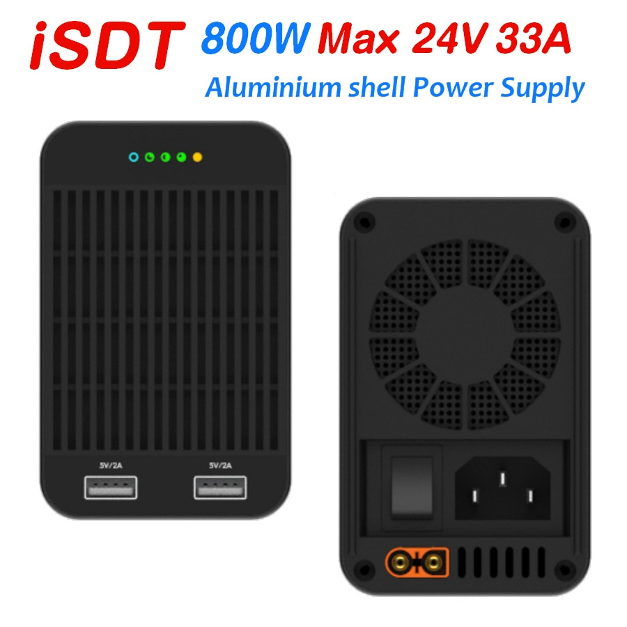 Promo ISDT 800W Power Supply RC Battery Charger With Dual 5V2A USB Output for iphone Sumsung Charging