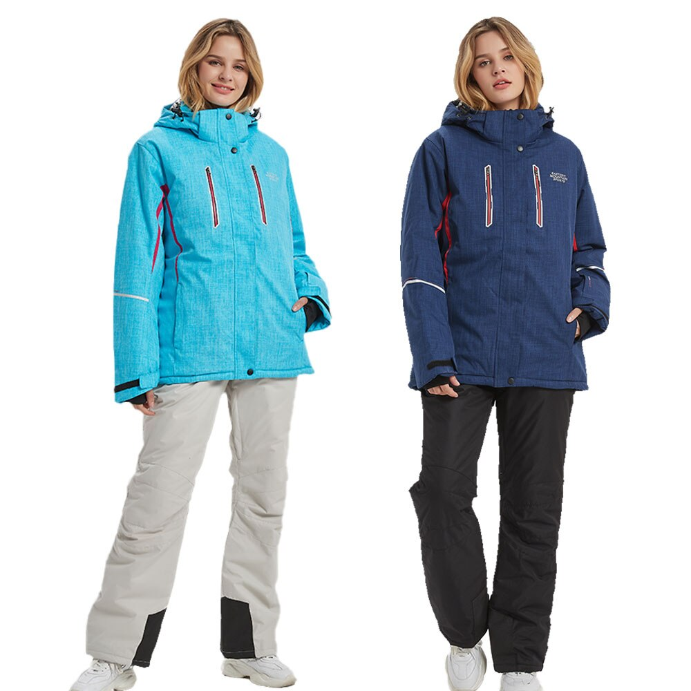New Ski Suit Women -30℃ Warm Windproof Waterproof Winter Snow Snowboard Jackets And Pants Skiing And Snowboarding Suits  Brands