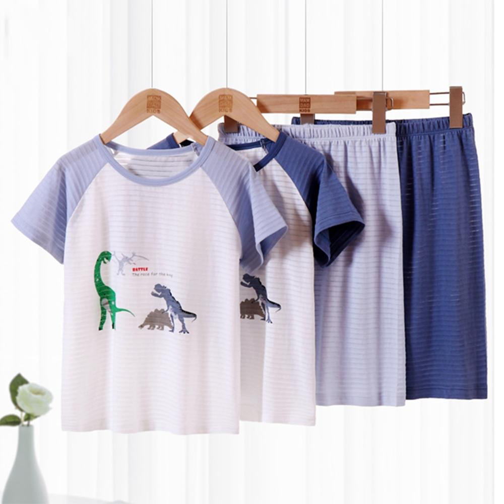 Kids Clothes Set Baby Girl Cute Summer Costume Pijamas Designer Kawaii Boutique Free Shipping Outfits Dinosaur Short Pants 2pcs