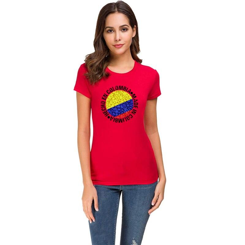 Camiseta estampada Colombia de talla grande 3xl para hombre, camiseta de verano para hombre, camiseta Unisex de manga corta de 2020, camisetas con diseño de cuello redondo para hombre