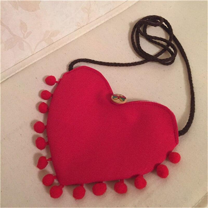 Monedero Mimi para niñas pequeñas en forma de corazón rojo, monedero de alta calidad, monedero para niños
