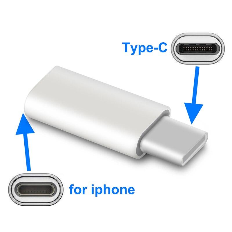 Cabo adaptador ios para usb tipo c, 8 pinos para iphone, samsung s10 plus, huawei p20, p30, conversor de carregamento para iluminação para usbc cabo