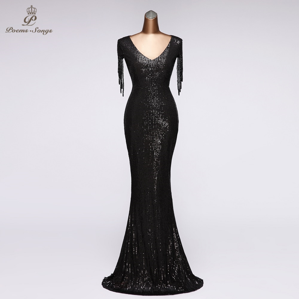 Elegant Sequin Evening dress party dresses robe de soiree vestidos de noche 2020 prom long dress women dress