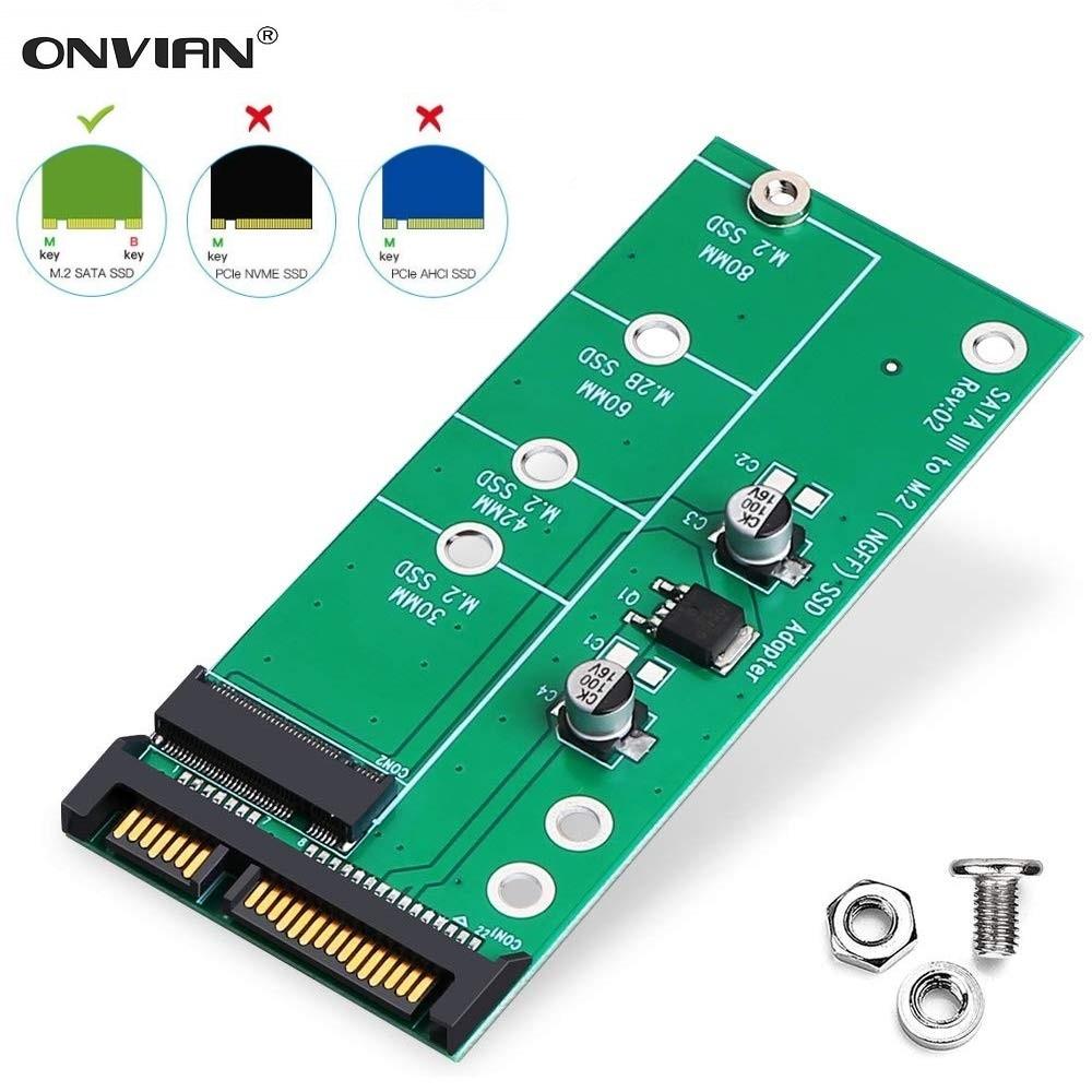 onnal adaptador m2 sata iii para m2 ngff conversor de cartao ssd baseado em sata