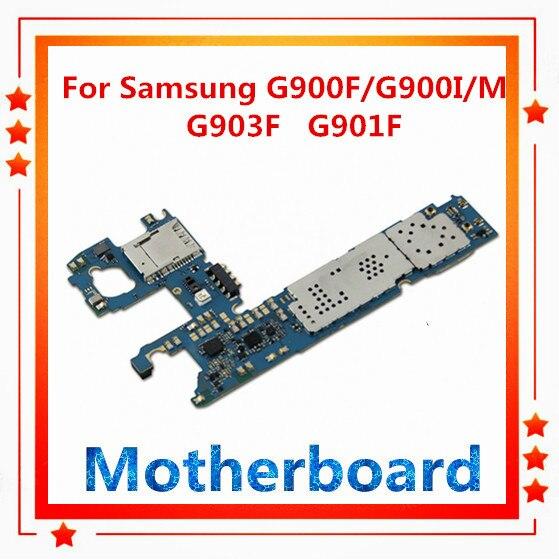 Tarjeta madre desbloqueada para Samsung Galaxy S5, placa base S5, G900M/F,G900I,G900F,G900H,G903F,G901F tarjeta madre reemplazada, cámara trasera