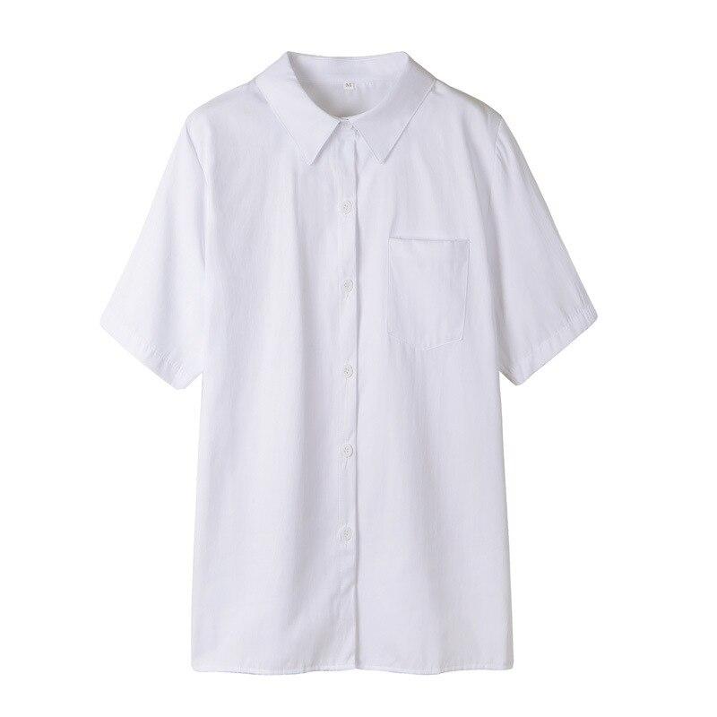 school uniform outfit white short sleeve top and pink skirt Women JK Orthodox High School Uniform Top Student Girls Harajuku Preppy Style Plus Size White Pink Short Sleeve Shirt Top Blouse