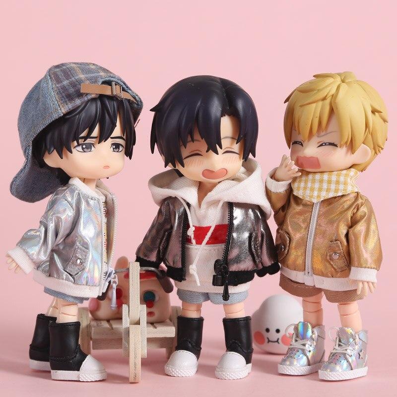 ob11 baby clothes laser coat obitsu11 1 / 8bjd doll clothes GSC element molly clothes jacket 1 / 12bjd clothes doll accessories недорого