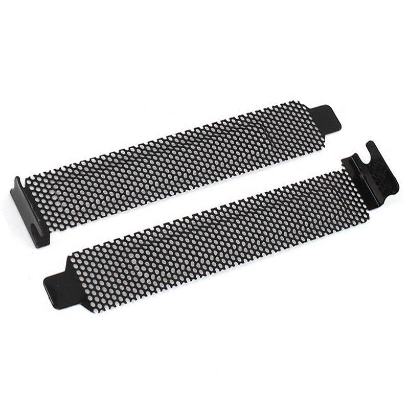 10 Pcs Hard Steel Dust Filter Blanking Plate PCI Slot Cover w Screws