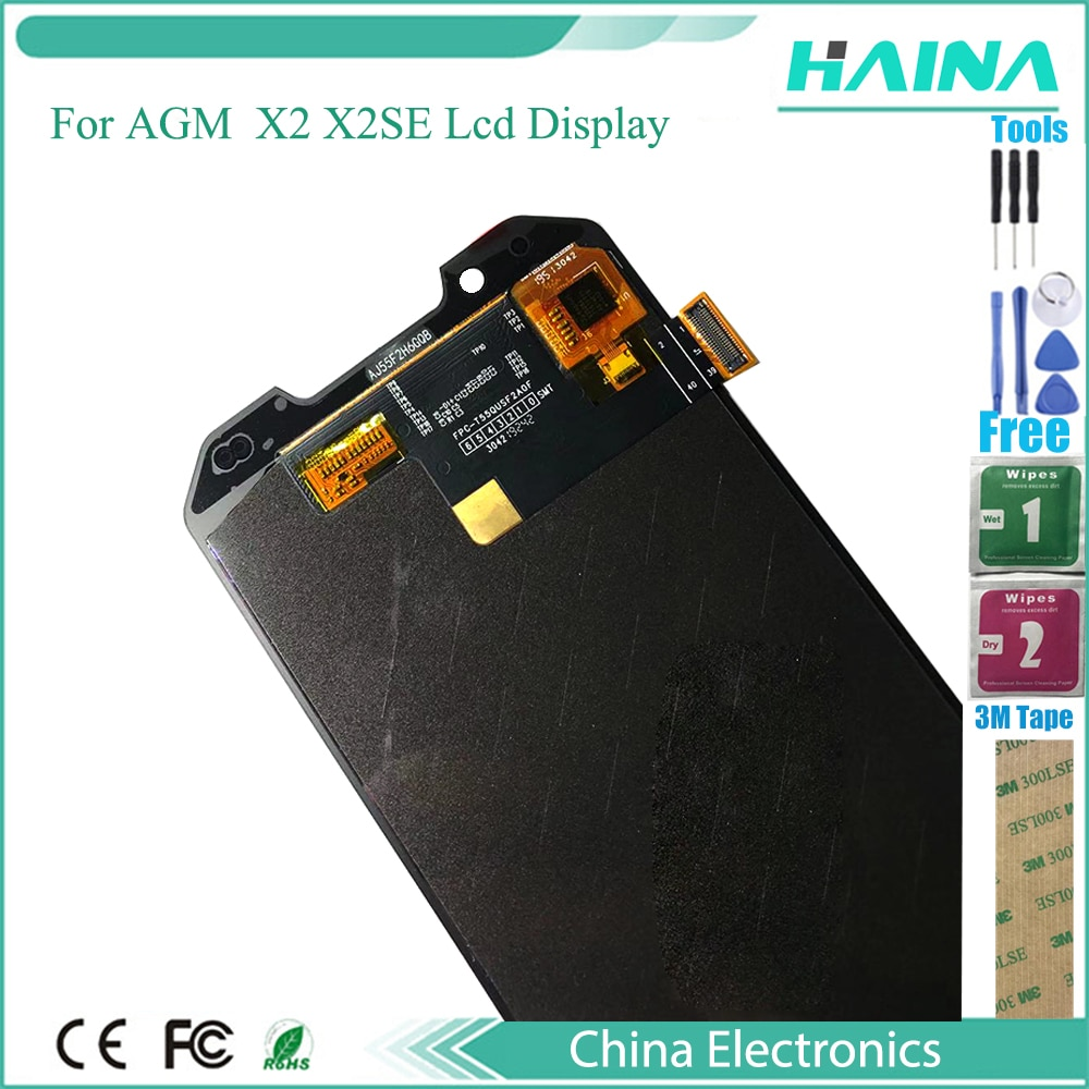 5.5inch For AGM X2  X2se LCD Display+Touch panel Screen Replacement Digitizer module Assembly Panel Glass repair lcd tools enlarge