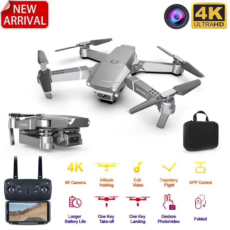 XKJ 2020 E68Pro البسيطة Drone 4K 1080P زاوية واسعة كاميرا Dron Wifi FPV ارتفاع عقد وضع RC طوي Quadcopter كيد هدية