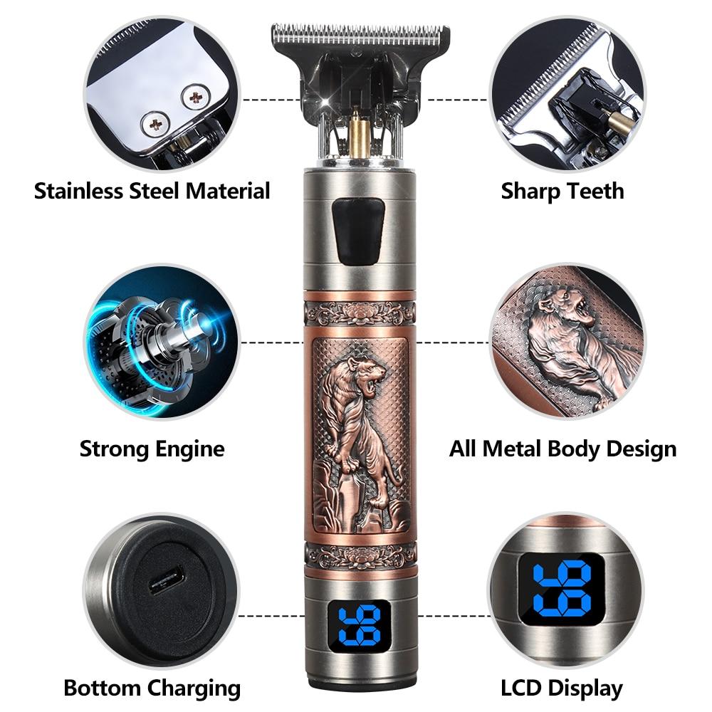 الانتهازي للرجال ماكينة حلاقة كهربائية مقص الشعر ماكينة الحلاقة اللاسلكية الحلاقة المهنية الشعر المتقلب آلة أداة تهذيب اللحية T9