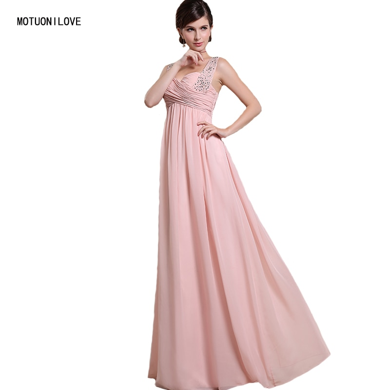 Real Photos Fashion Women Long Evening Dresses 2019 Summer Sexy Gown Sleeveless Pink Formal Party Robe de Soiree