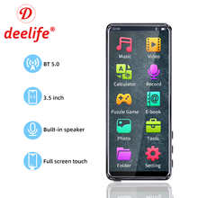 Deelife Touch Screen MP3 Portable Music Player With 3.5 Inch FM Radio Video Built-In Speaker Music Players Bluetooth 5.0