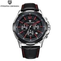 pagani design casual sport watch for men top brand luxury military leather wrist watch man clock fashion chronograph wristwatch
