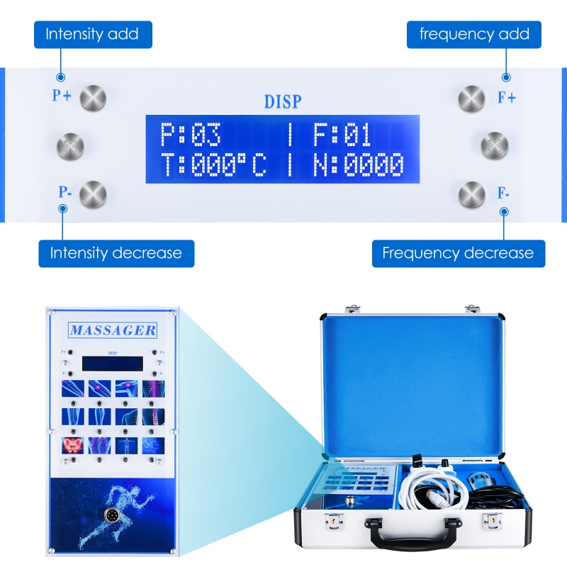 Extracorporeal Shock Wave Therapy Equipment Shockwave Machine Pain Relief Massager Host Separable Device ED Treatment enlarge