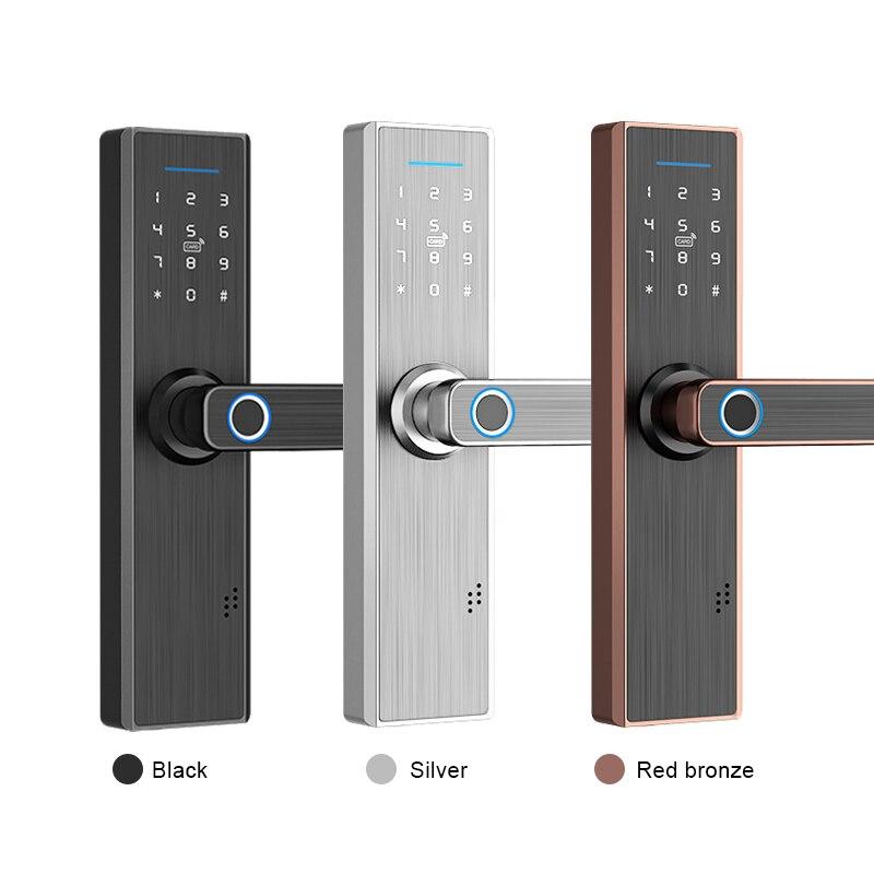 Smart Bluetooth Electronic Digital Fingerprint Door Lock with RFID Card Keypad Code TTlock Indoor App Remote Control