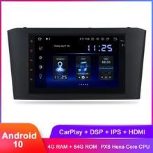 "7 ""Android 10 Carplay Für Avensis T25 2003 2004 2005 2006 2007 2008 In Dash 2 Din Stereo Auto radio GPS DSP Audio Video Steuergerät"